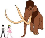 Riley and Elycia meets Woolly Mammoth