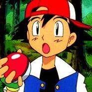 Ash Ketchum Holding a Pokeball