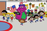 Barney Goes to School (My Version)