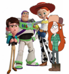 (Family) Buzz Lightyear, Jessie, Liam and Wendy Corduroy