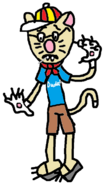 The Many Poses (Andrew Catsmith) (with a toy cigar) Part 05 - Andrew looks nervous.