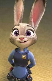 Judy in uniform