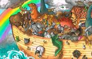 Noah's Ark Dinosaurs, Mammoths, Unicorns, Dragons, Elephants, Hippos, and Rhinos