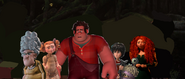 Ralph winnie and croods sees the birds