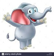 Happy Cartoon Elephant