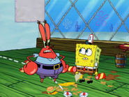 Mr krabs get mad at spongebob