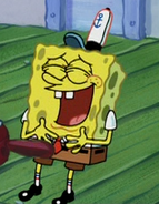 Spongebob laughing
