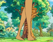 Giant Jane Walks Pass the Tree House