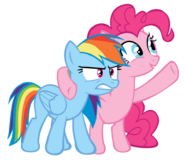Rainbow Dash and Pinkie Pie by Bronyboy