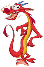 Mushu chinese dragon