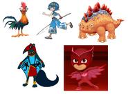 Splenhorus, Owlette, Lana, HeiHei & Stogg