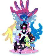 Steven, Garnet, Amethyst, Pearl, Connie, Lapis Lazuli and Peridot