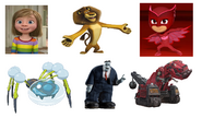 Ty-Rux, Frank, Araquanid, Owlette, Alex the Lion & Riley Anderson
