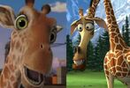 Melman the Giraffe and Bridget the Giraffe