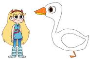 Star meets Domestic Goose