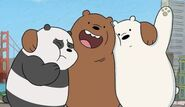 Grizzly Bear Ice Bear & Panda (We Bare Bears) as Three Little Pigs