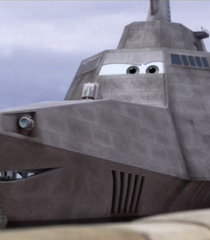 Combat Ship in Cars 2