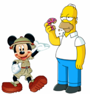 Mickey meets Homer