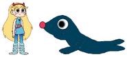 Star meets Harbor Seal