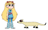 Star meets Black-Footed Ferret