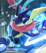Greninja in Super Smash Bros. for Wii-U and 3DS