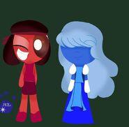 Powerpuff Ruby and Sapphire