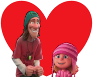 Fred and Edith Gru love together