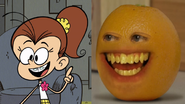 Luan Loud X Annoying Orange
