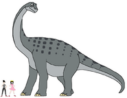Riley and Elycia meets Alamosaurus