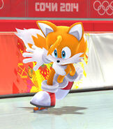 "Miles ""Tails"" Prower in Mario and Sonic at the Sochi 2014 Olympic Winter Games"