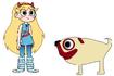 Star meets Pug