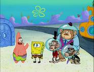 Spongebob and patrick meets chimps