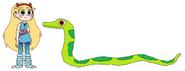 Star meets Green Tree Python