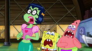 Mindy, SpongeBob, And Patrick Screaming