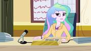 Principal Celestia at her desk EG