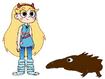 Star meets Long-Beaked Echidna