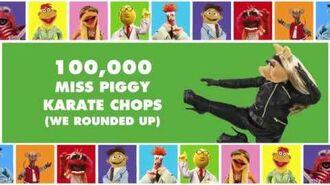 100,000 Miss Piggy Karate Chops The Muppets