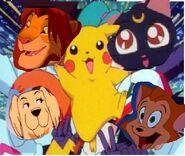 Danny amber simba pikachu and luna