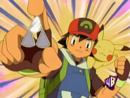Ash gets the Rain Badge
