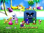 Mario party 64 mario peach koopa tropa boo toad Thwomp yoshy pink yoshi and blue yoshi in Yoshi Tropical Island