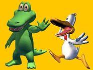Bill & Aldo (Sitting Ducks) as Needleman & Smitty