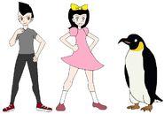 Riley and Elycia meets Emperor Penguin
