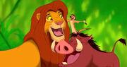 Simba, Timon and Pumbaa