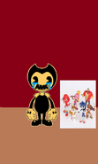It's Bendy with some toys