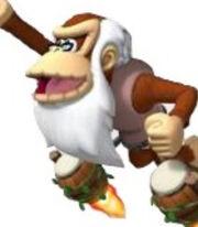 Cranky Kong in Donkey Kong- Barrel Blast