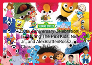 Sesame Street's 50th Anniversary Celebration! (Featuring The PBS Kids, Nick Jr., and AlexBrattenRockz Characters)- Poster
