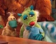 Tutter crying in Bear in the Big Blue House: Lost and Found