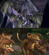 The Hyenas and the Foosas (The Lion King and Madagascar)