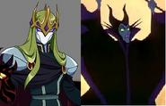 Gramorr (Lolirock) & Maleficent (Sleeping Beauty)