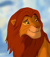 Adult Simba (from The Lion King) as Leon